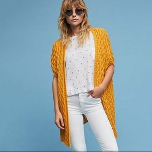 Anthropologie mo vint open stitched cardigan small